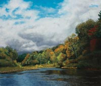 Autumn in the Valley pastel painting
